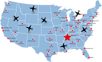 Contact US Aerospace FAA Part Repair Station For Repair - Memphis tennessee on us map